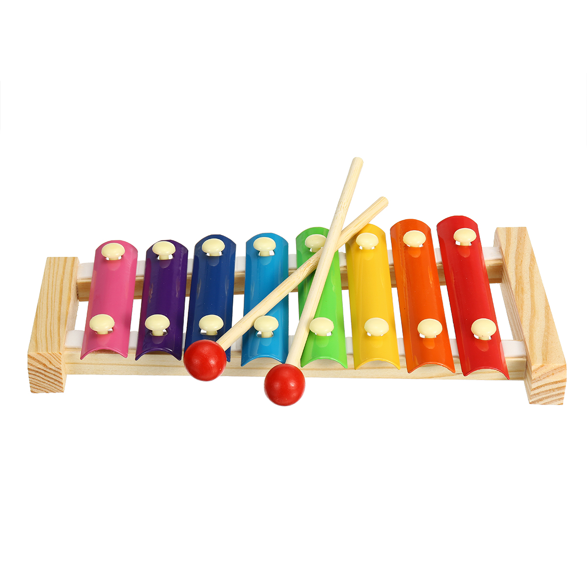 7 Pieces Orff Musical Instruments Set Kids Puzzle Percussion for Children's Sensing Practice - Photo: 7