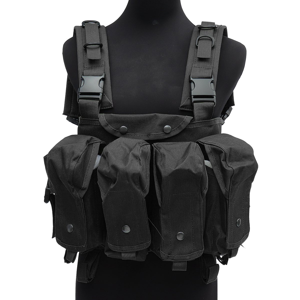 Chaleco táctico unisex al aire libre Combat Game Training Storage Carrier Belly Pocket Vest