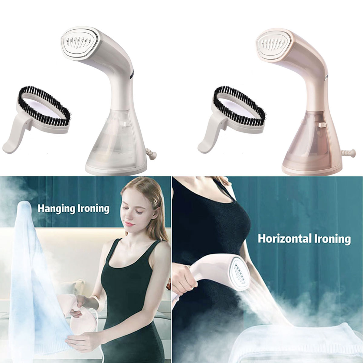 Portable Handheld Steam Iron Travel Cleaning Brush Clothes Household Appliance