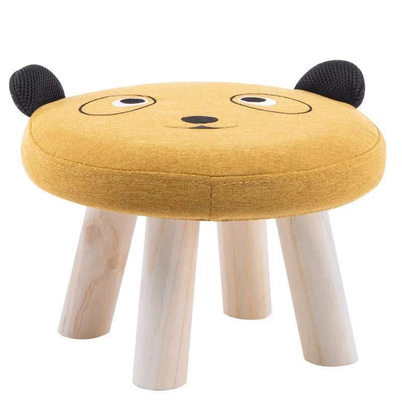 Baby Sofa Round Stool Solid Wooden Bear Chair Home Furniture