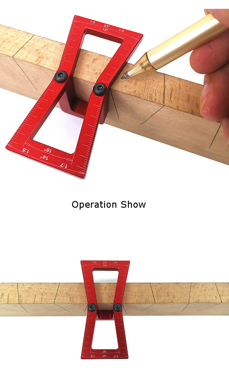 Aluminum Alloy Dovetail Marker Dovetail Marking Jig Featuring 1:5 1:6 1:7 and 1:8 Slopes Woodworking Tool