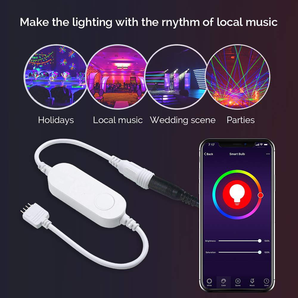 Smart WiFi RGB LED Light APP Controller RGB Amazon ECHO Google Home IFTTT Voice Alexa LED Strip Controller