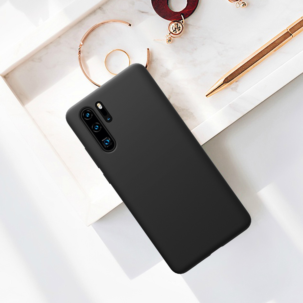 NILLKIN Smooth Shockproof Soft Liquid Silicone Rubber Back Cover Protective Case for Huawei P30 Pro