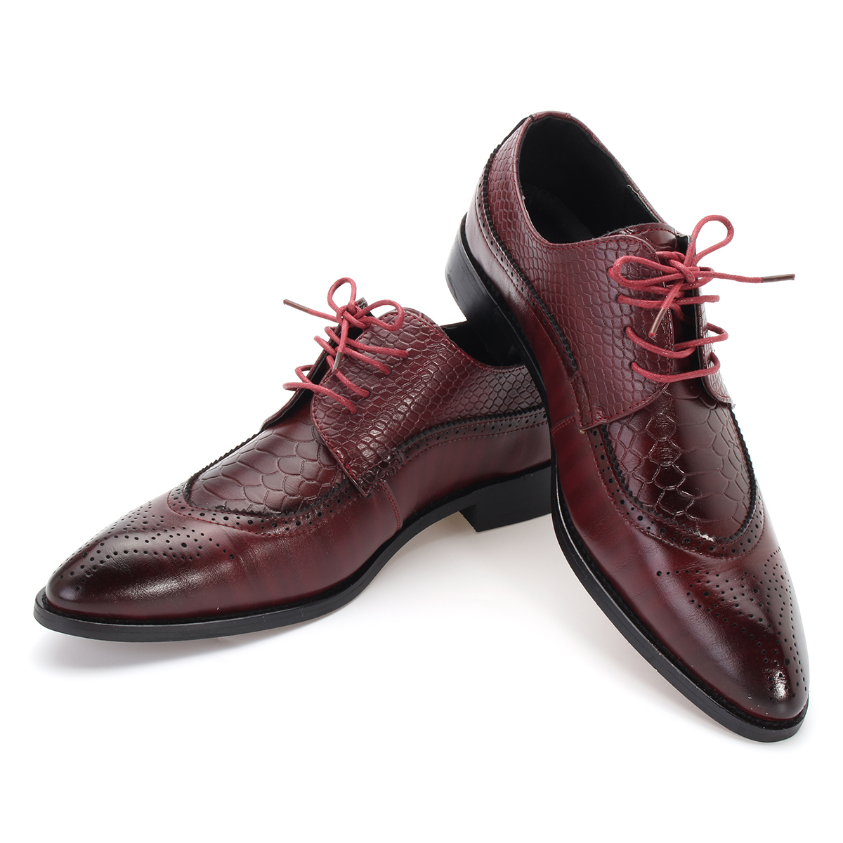 Men's Modern Brogue Carved Classic Pointed Toe Dress Shoes