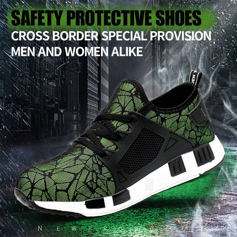TENGOO Air-A Ultralight Safety Shoes Hiking Steel Toe Work Safety Mesh Anti-slip Anti-Collision Climbing Running Ball Shoes