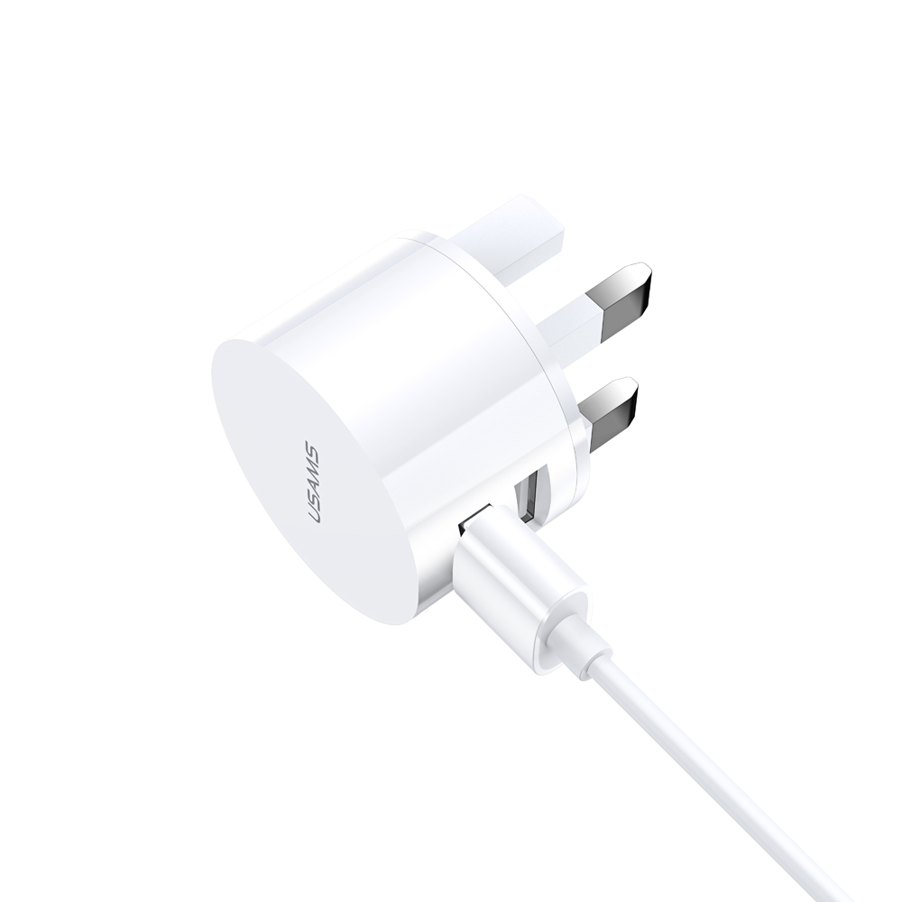 USAMS 2.1A Dual USB Port Fast Charging EU AU US Plug Travel Charger Adapter For iPhone X XS Oneplus 7 XIAOMI MI8 MI9 S10 S10+