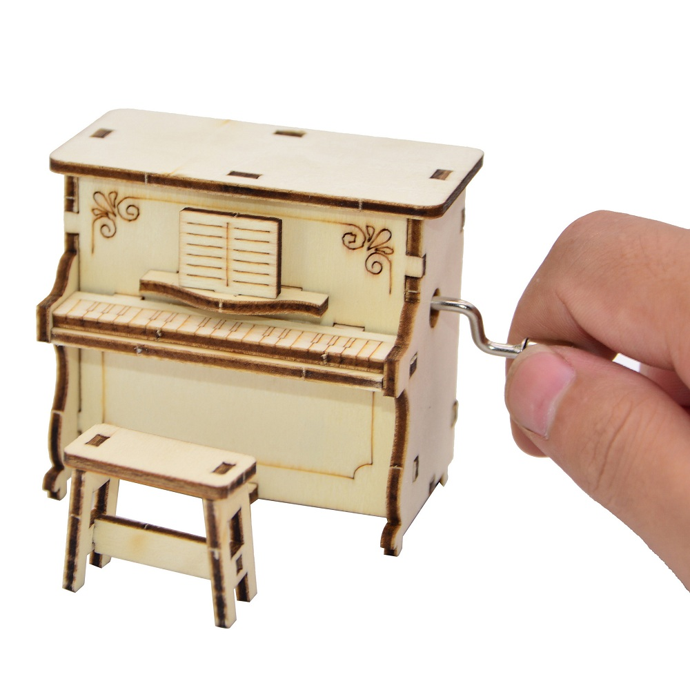 DIY Hand-assembled Music Box Creative Piano Hand-operated Music Box for Children