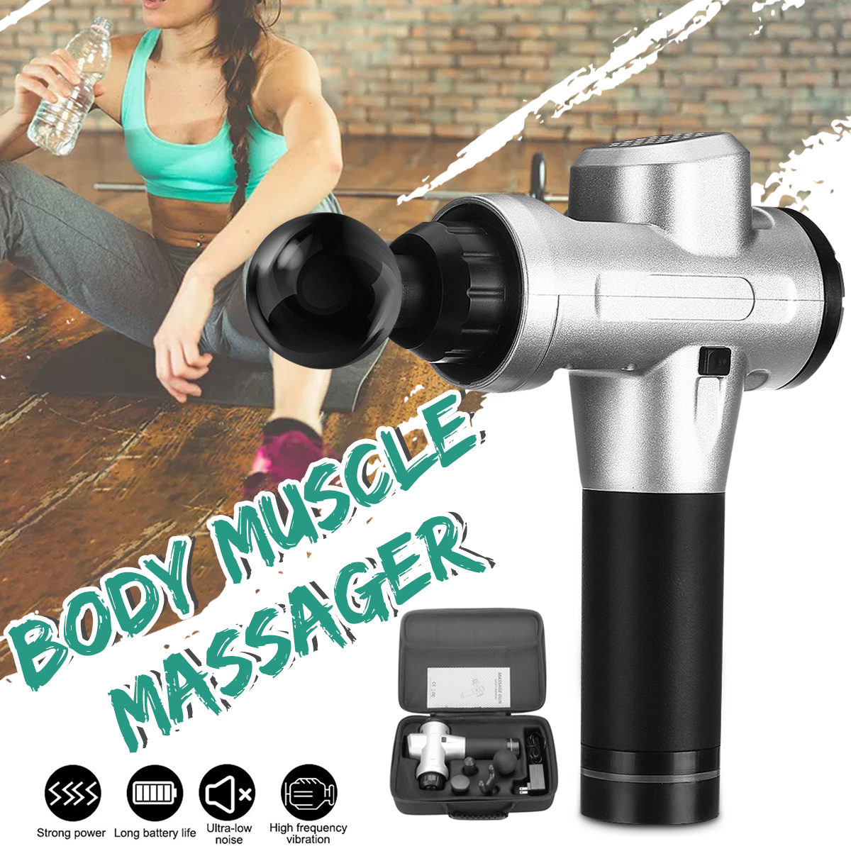 20 Speeds Fascia Muscle Vibration Percussion Massager