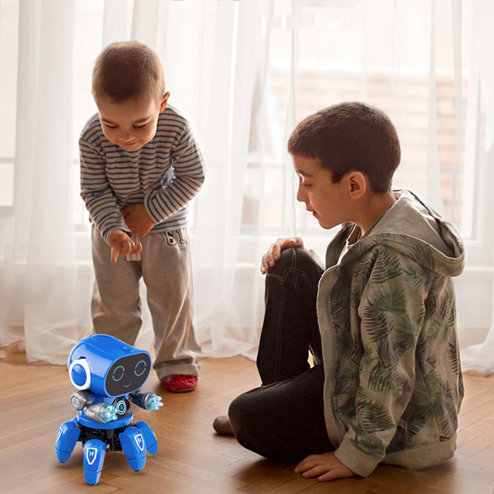 DIY 6-Legged Smart RC Robot Toy Sing Dance Robot Toy With Colorful Light - Photo: 2