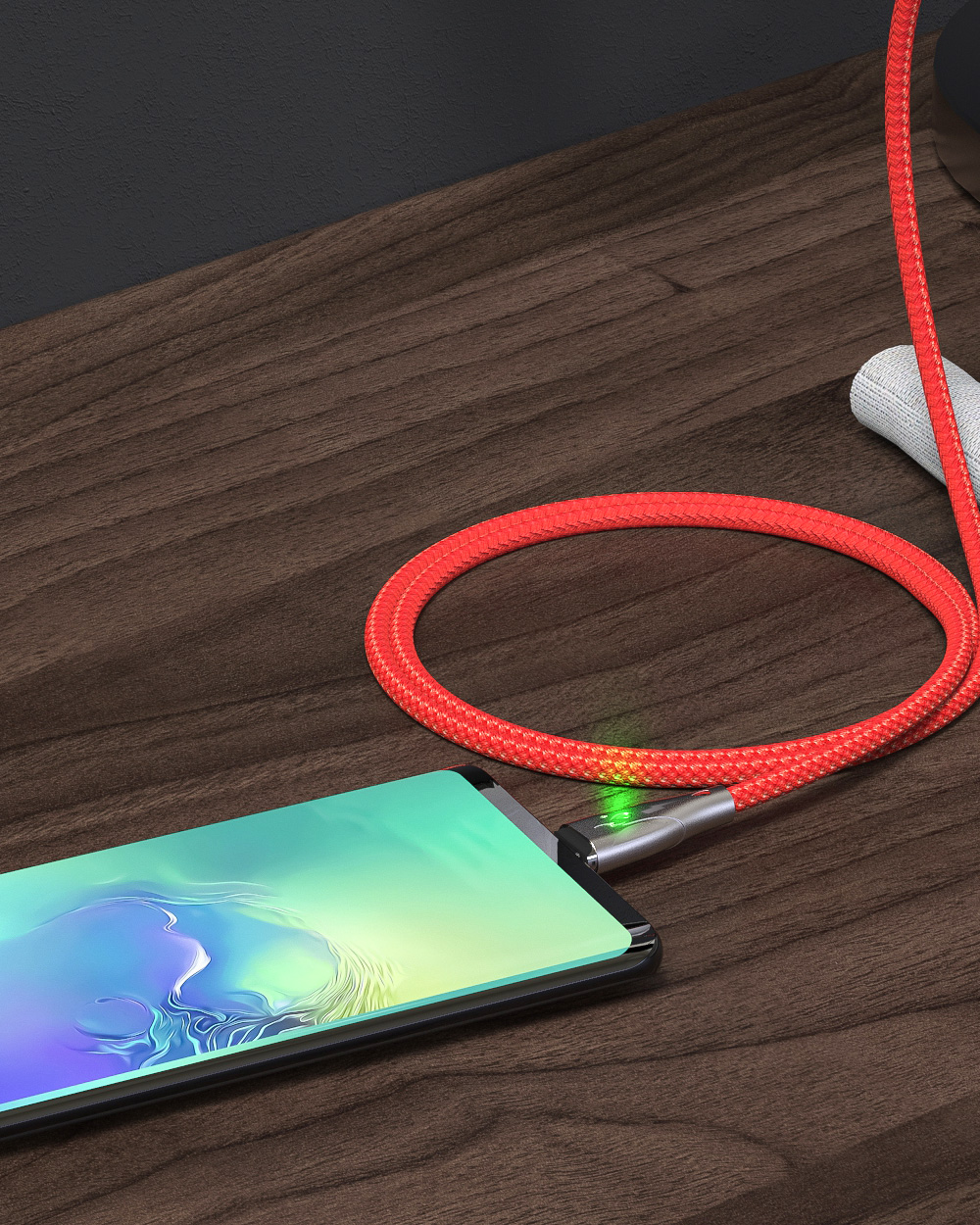 BlitzWolf® BW-TC20 3A Magnetic Type C/Micro USB Nylon Data Cable 1m/1.8m for Huawei P30 Pro Mate 30 5G Xiaomi Mi9 9Pro Oneplus 7T S10+ Note 10