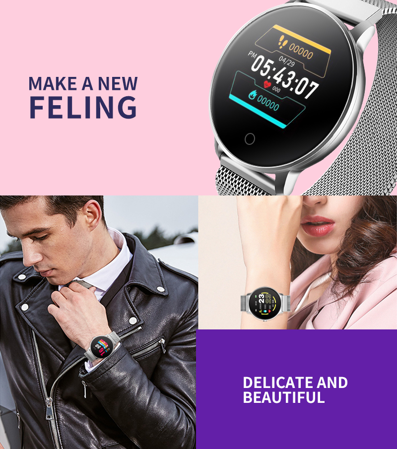 Bakeey Hi01 Dynamic Heart Rate O2 5ATM Fitness Tracker Sports Mode Weather Forecast Smart Watch
