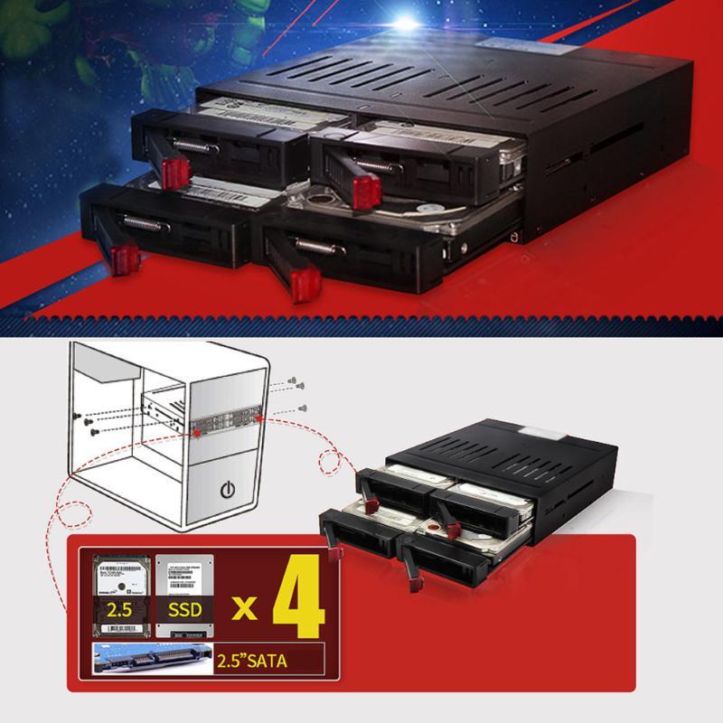 Olmaster 2.5 Inch Hard Drive Enclosure Solid State Hard Disk Internal Enclosure Case SATA Hard Drive Dock HDD SSD Frame Mobile Rack Bay station