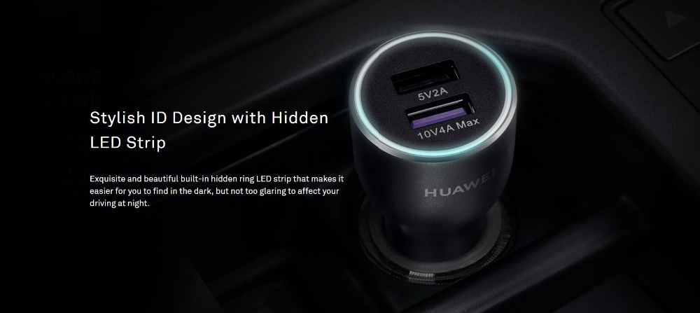 HUAWEI CP37 40W 4A Original SuperCharge Dual USB Car Charger 2 Type-C Cable Included for Samsung S10+ HUAWEI P30 Pro Xiaomi Redmi K30