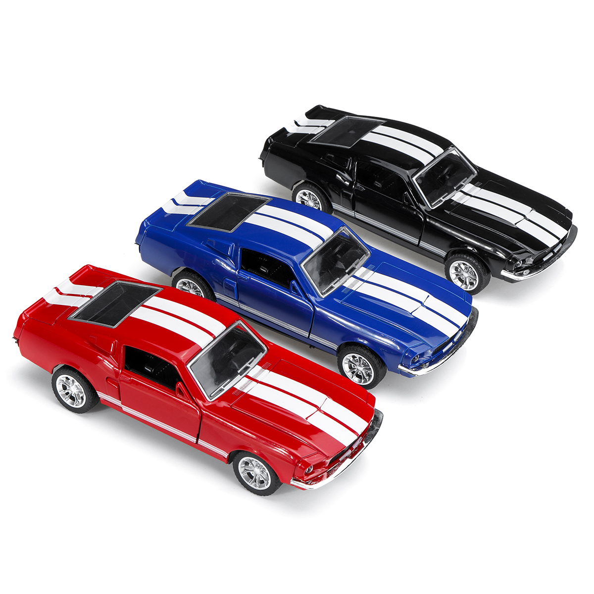 1:32 Alloy Fords Mustang GT 1967 GT500 Return Diecast Car Model Toy for Children Gift - Photo: 2