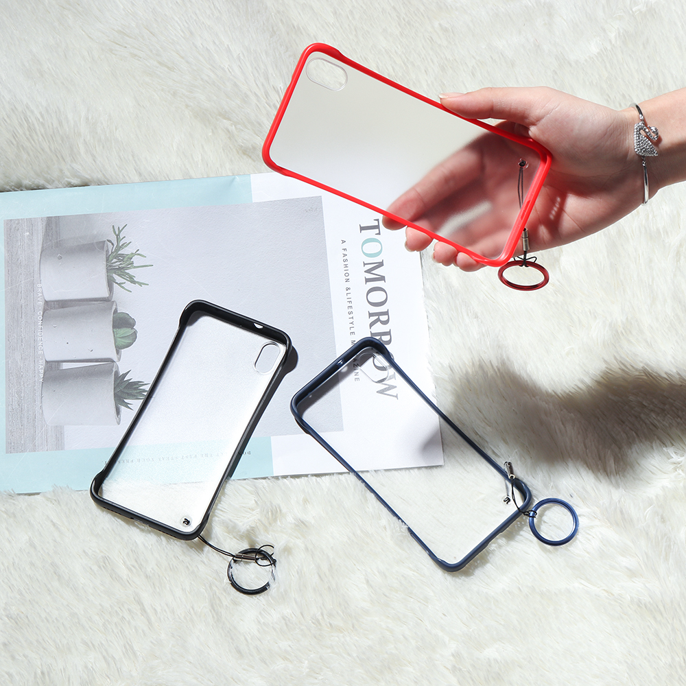 Bakeey Transparent Ultra Thin Anti Fall Matte Hard PC&Soft Edge With Finger Ring Protective Case For Xiaomi Redmi 7A