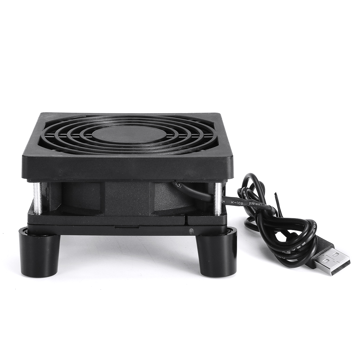 9CM Router Cooling Fan Rack 5V USB TV Box Notebook Cooling Rack With Foot Pad