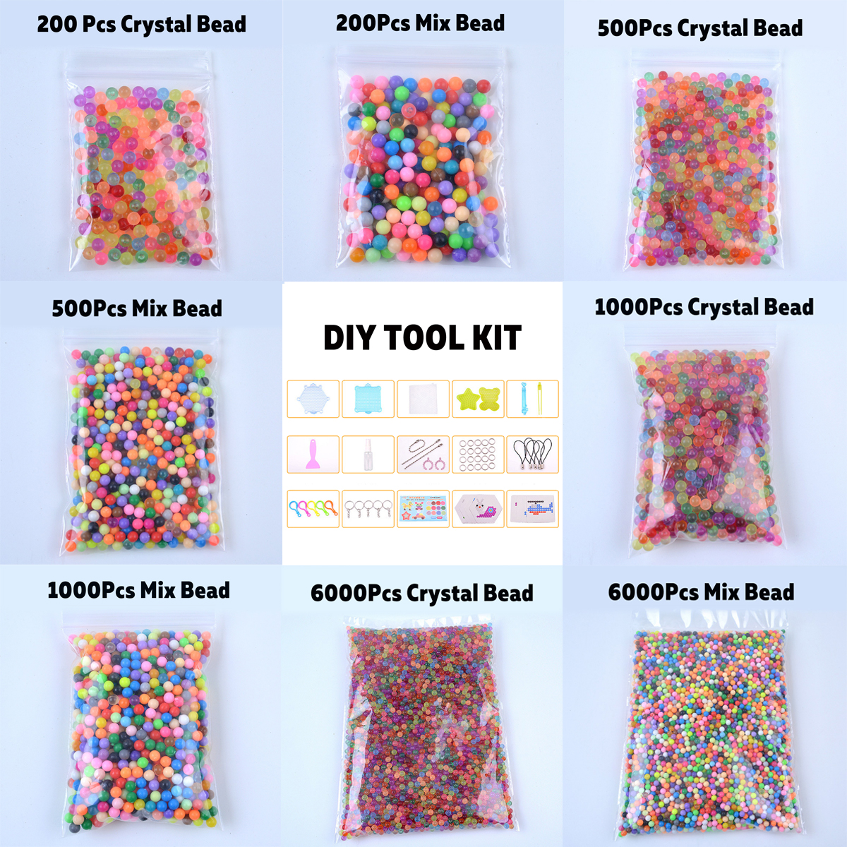 Mix/ Crystals Fuse Beads Water Sticky Beads DIY Refill Water Spray Kid Art Craft