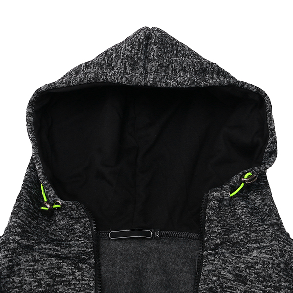 Sports Leisure Jacquard Fleece Cardigan Zip Up Thick Hooded