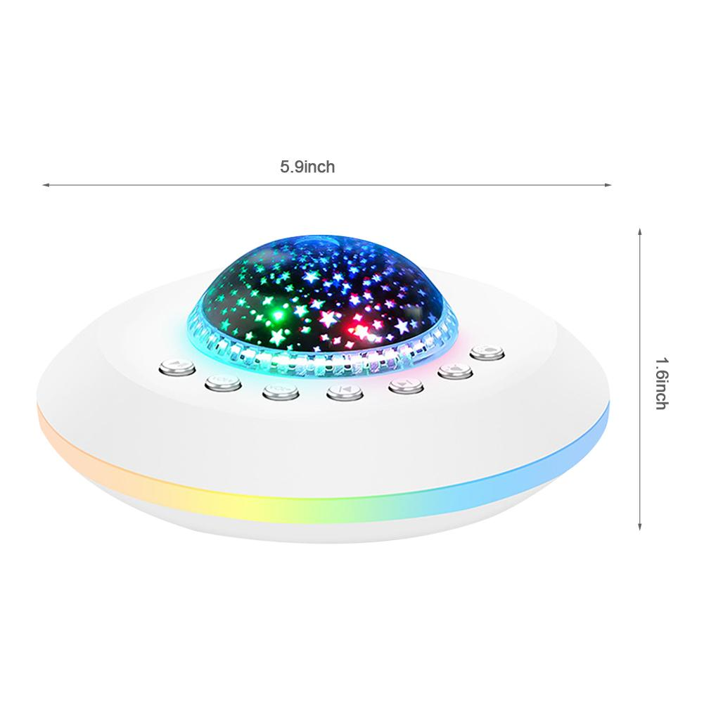 Baby Adults Therapy Sound Machine For Sleeping White Noise Sleep Sound Machine USB Rechargeable Projection Lamp Night Light