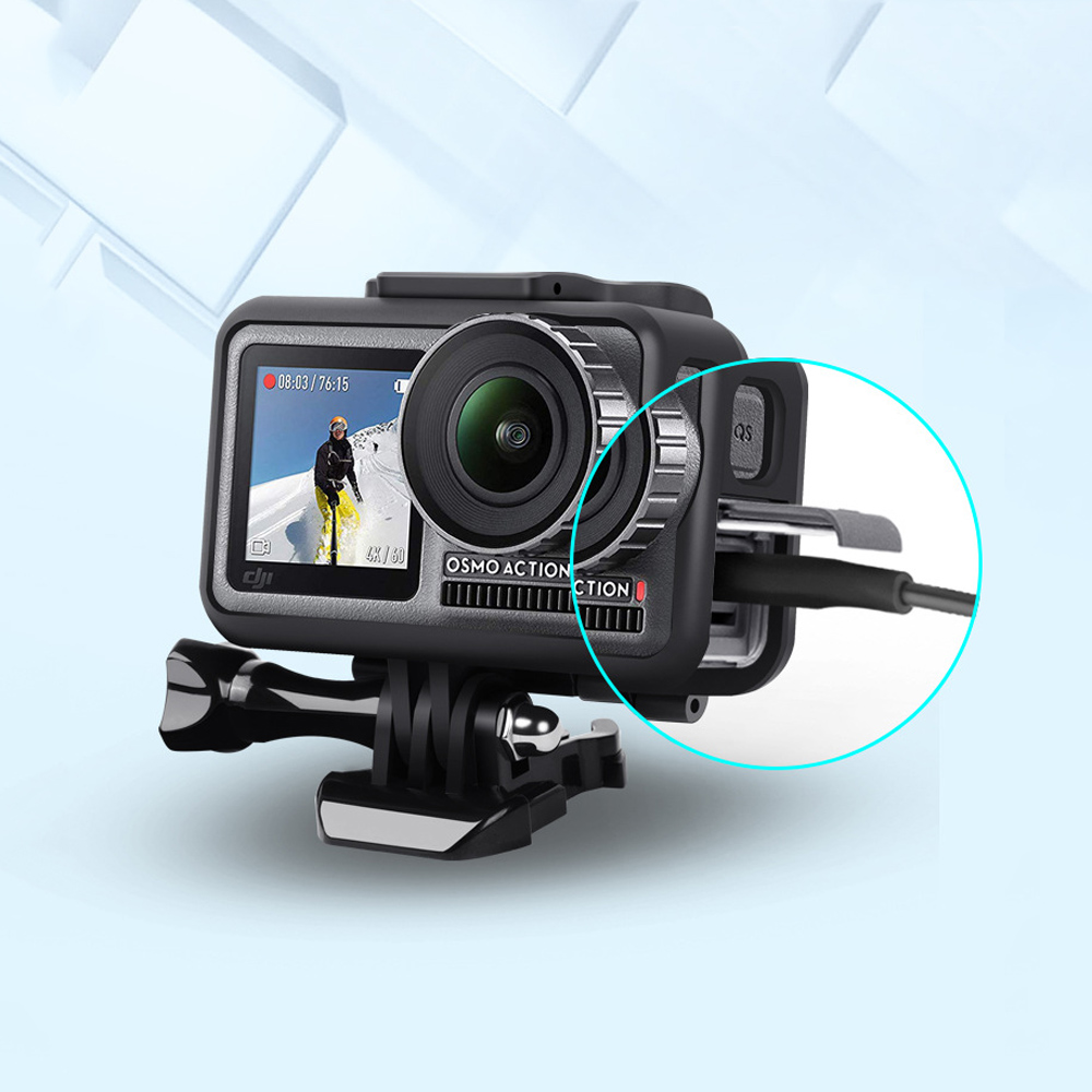 OSMO ACTION Camera Accessories Protective Cage Frame Bracket Camera Mount For DJI OSMO Action Camera - Photo: 5