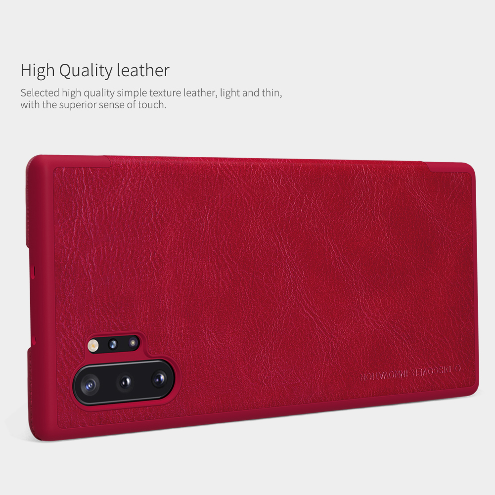 NILLKIN Flip Shockproof Card Slot Holder Full Cover PU Leather Vintage PC Protective Case for Samsung Galaxy Note 10+ / Note 10+ 5G
