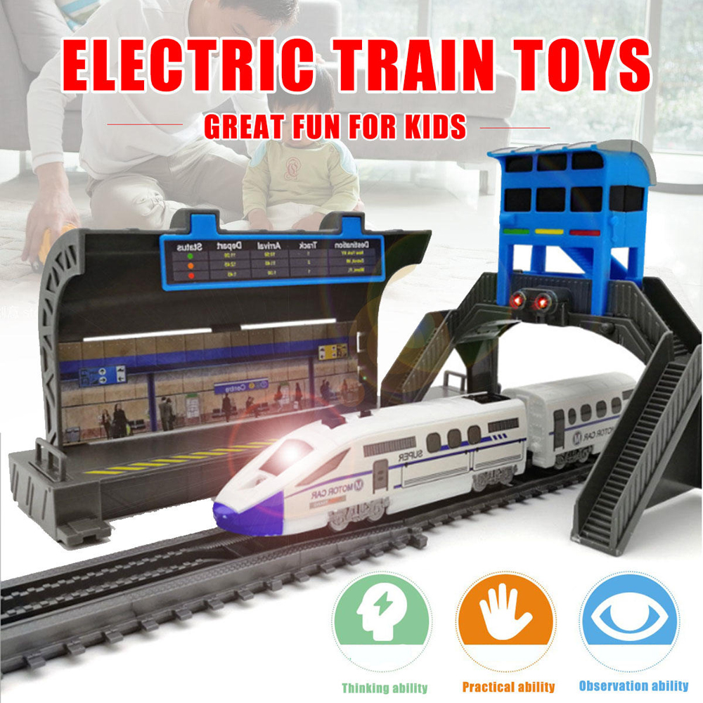 Electric Powerful Assembly Train Track Toys with Light for Kids Gift - Photo: 4