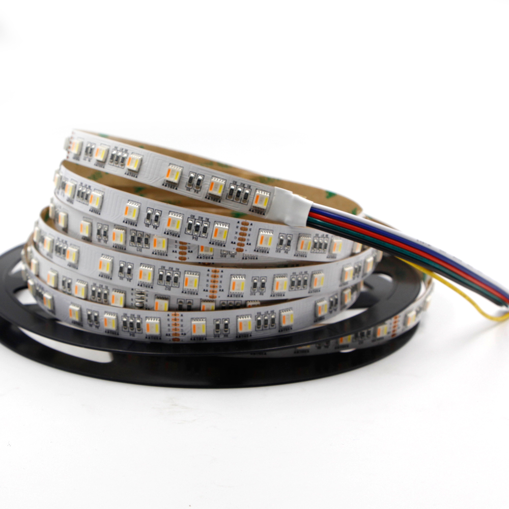 DC12V 5IN1 RGB+CCT LED Strip Light 5050 Flexible Tape Non-waterproof Indoor Lamp Home Decor