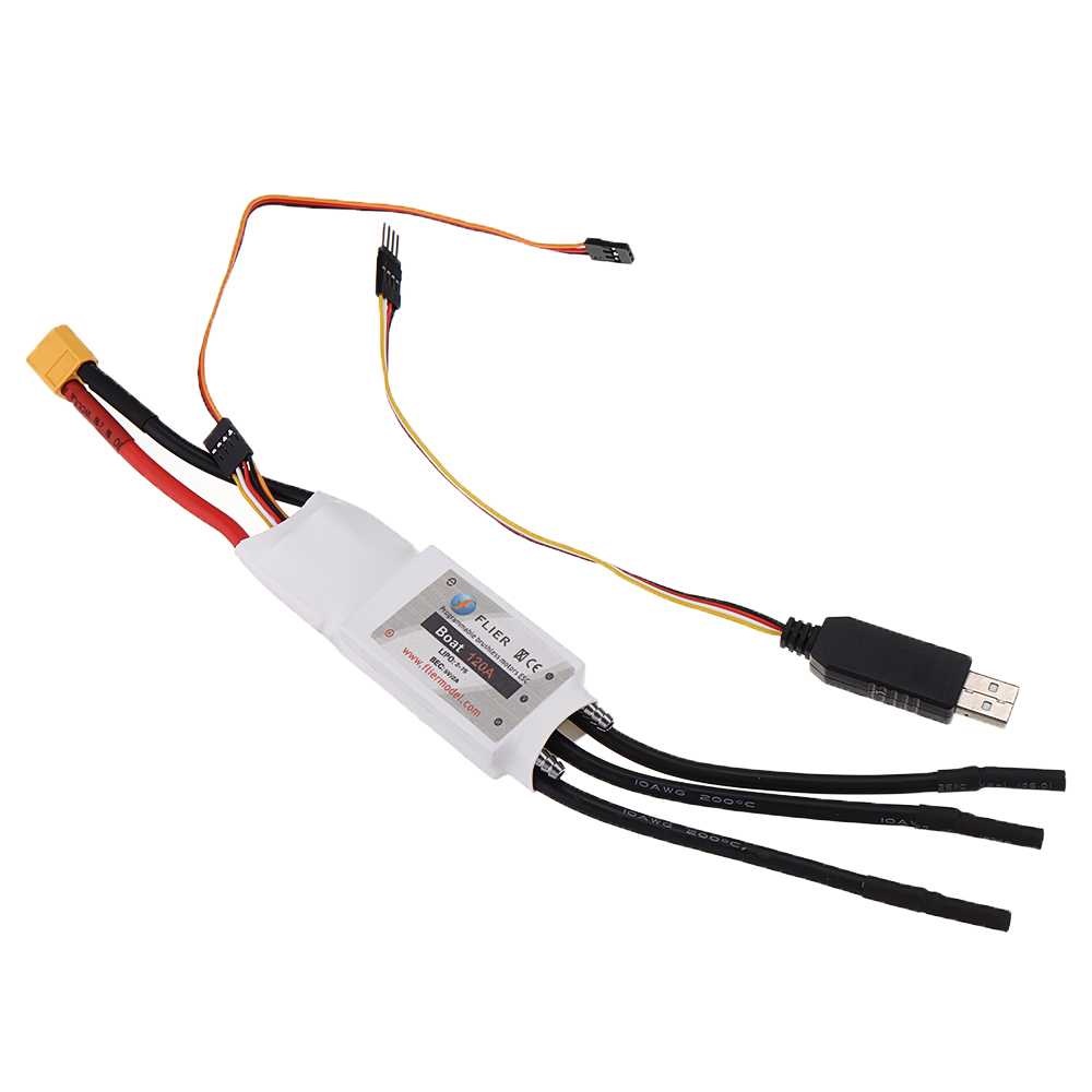 Flier Model 120A Brushless ESC 7S Lipo Two-way Water-Cooled Speed Controller for RC Boat Marine - Photo: 8