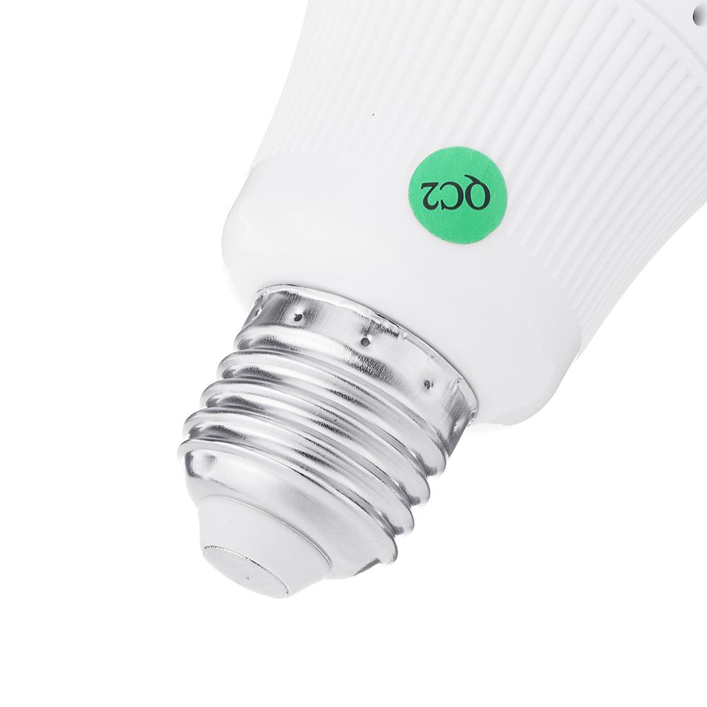 360 ° 960P Inalámbrico inteligente Cámara luz LED Bombilla FishEye CCTV 1.3MP Seguridad panorámica para el hogar AC100-240V