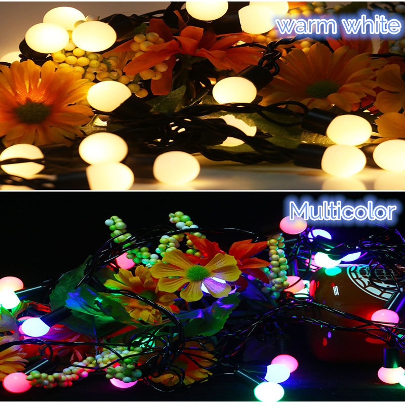4M Warm White Colorful Ball Starry Lamp 28LED String Light for Garden Christmas Wedding Party AC110V AC220V