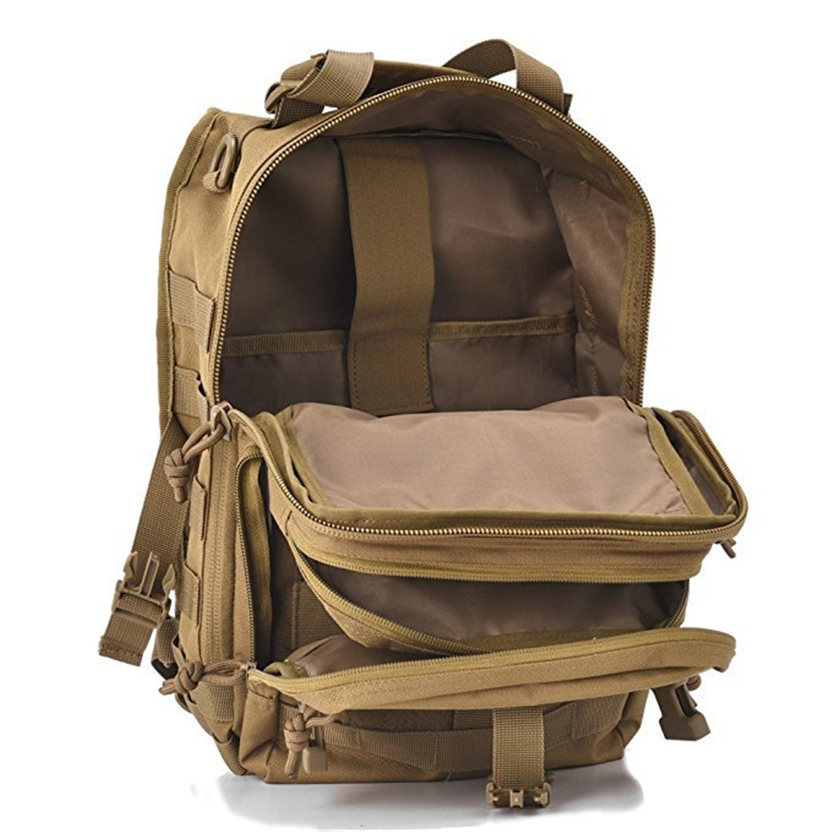 Men Outdoor Tactical Molle Backpack Waterproof 800D Nylon Assault Pack Sling Chest Bag Camping Hiking