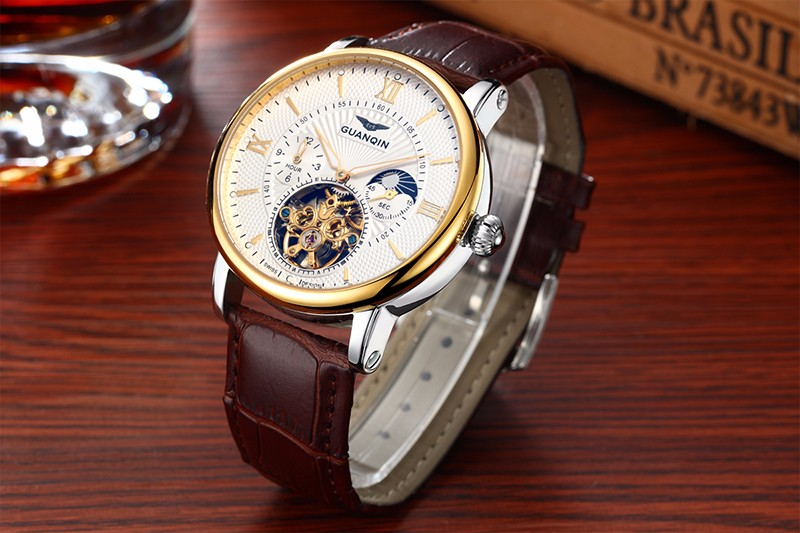 GUANQIN GQ16036 Roman Number Automatic Mechanical Watch