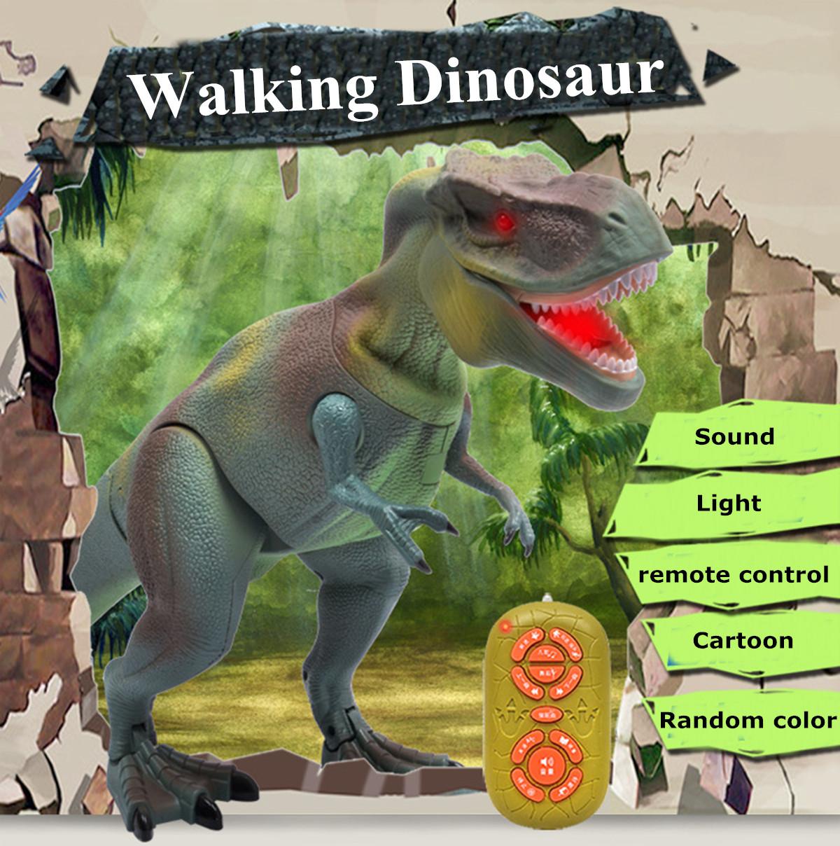 RC Remote Control Walking Dinosaur Lights Sounds Kids Children Action Toys Gift