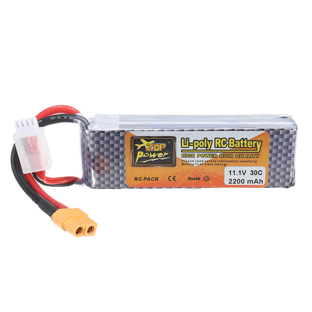 ZOP Power 11.1V 2200MAH 3S 30C Lipo Batterie XT60 Stecker