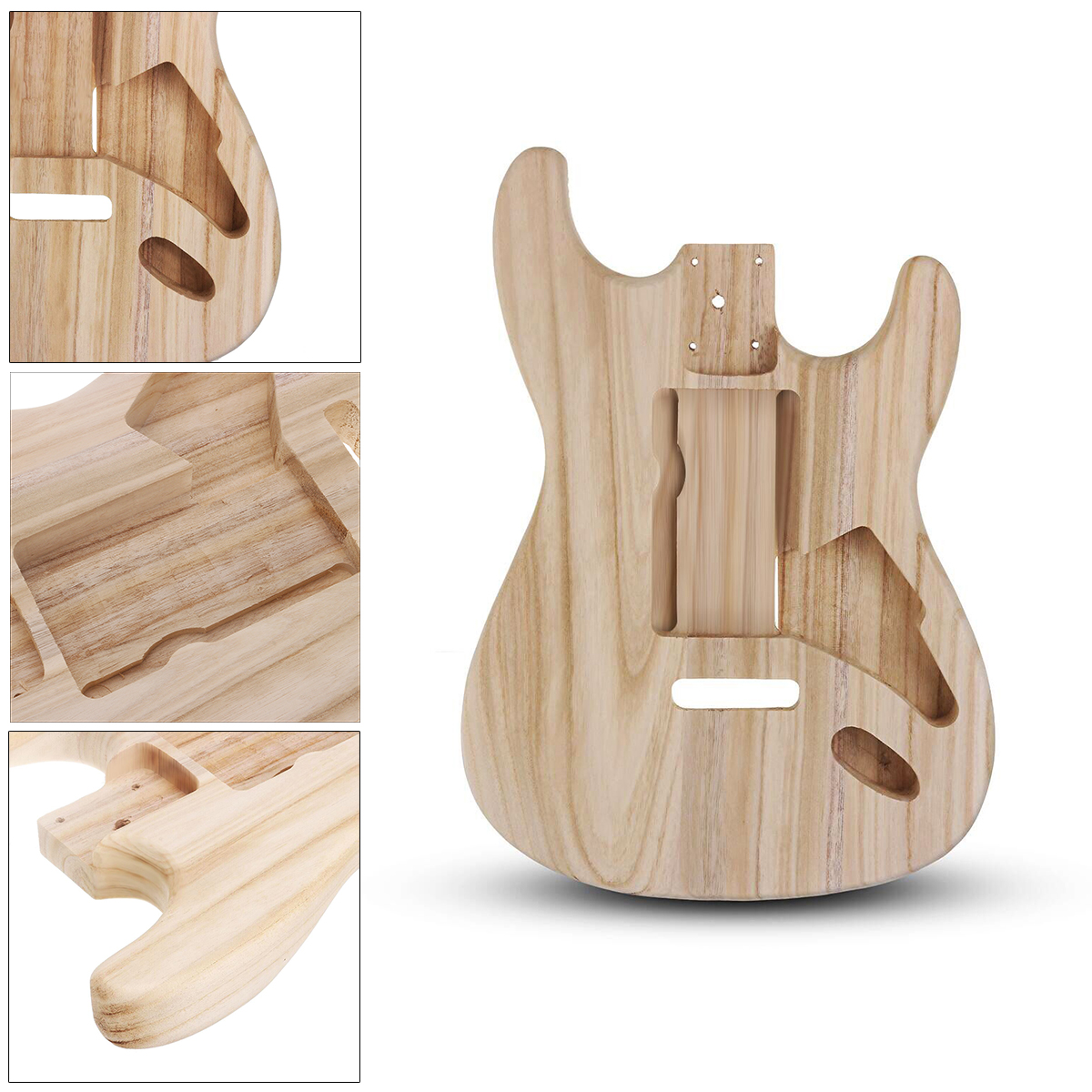 DIY Polished Maple Wood Type ST Electric Guitar Barrel Body for Guitar Replace Parts