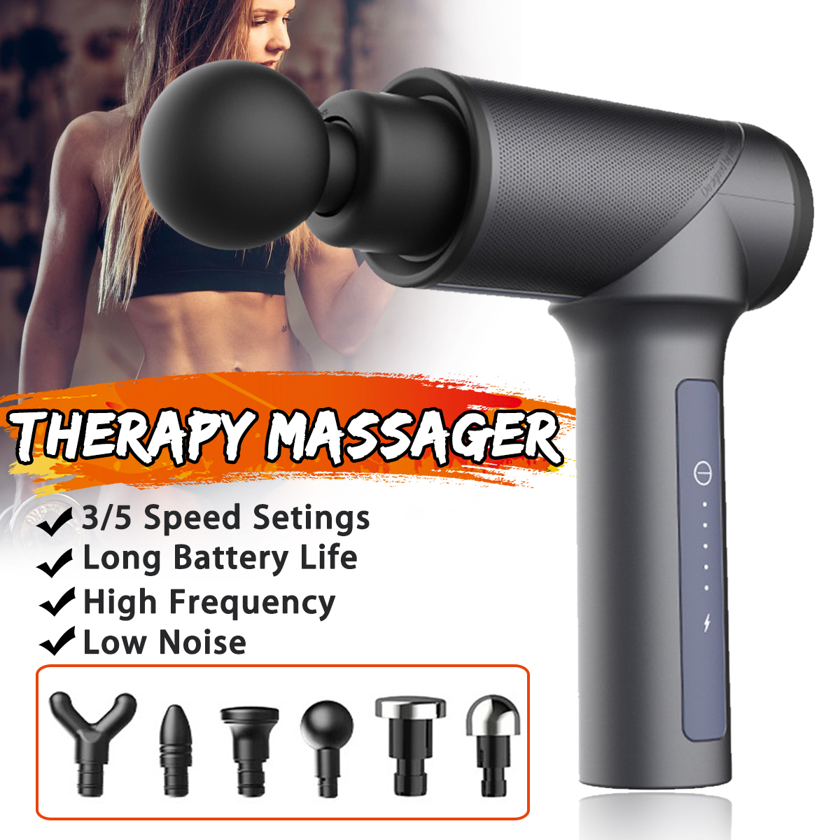 Upgraded Muscle Massager Professional Personal Massage Device Handheld Deep Tissue Cordless Percussion Massager