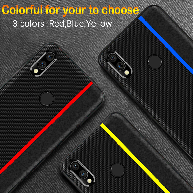 Bakeey Shockproof Carbon Fiber Soft Silicone Edge PU Leather Protective Case for Xiaomi Redmi Note 7 / Redmi Note 7 Pro