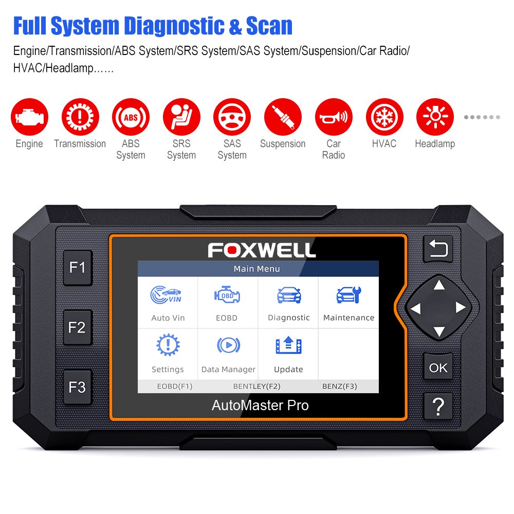 Foxwell NT624 Elite OBD2 EOBD Automotive Scanner Full System Diagnostic Oil EPB Reset OBD 2 Auto Scanner Car Diagnostic Tool