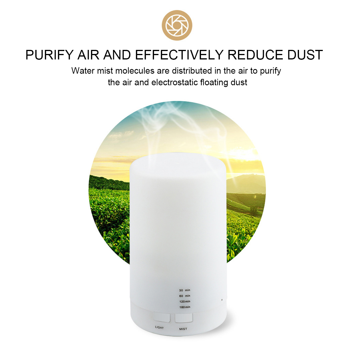 LED Ultrasonic Aroma Diffuser Air Purifier Humidifier Timing