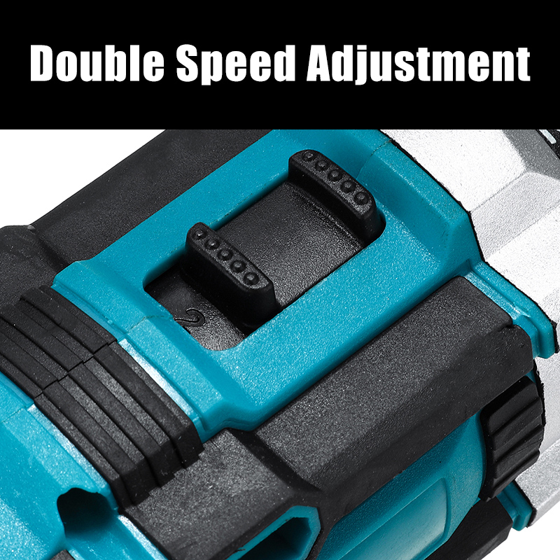 48V Electric Drill Driver Power Drills W/ 1 Or 2 Battery LED Light 18 + 2 Speed Forward/Reverse switch