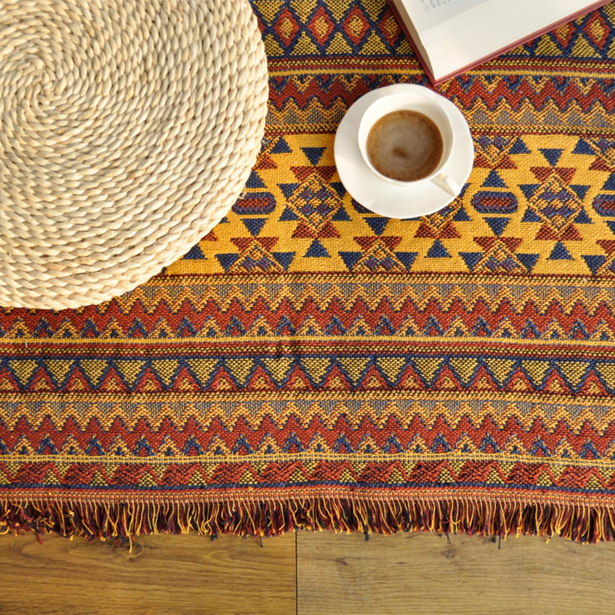 Cotton Knitted Blankets Throw Tribal Bohemian Ethnic Sofa Bedding Home Decor