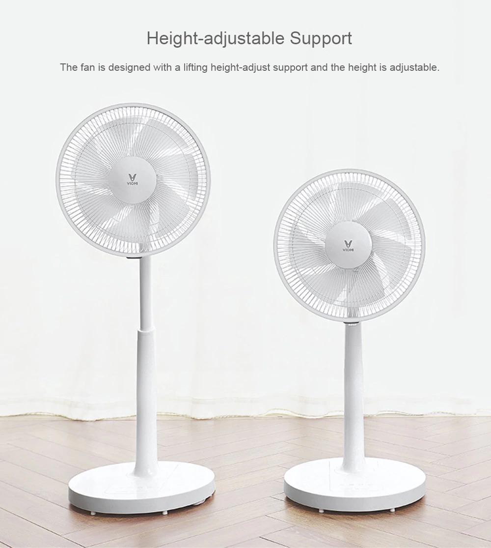 VIOMI VXFS12 - Z Mute Floor Voice Fan Pedestal Fan APP Remote Control from Xiaomi Eco-system - White
