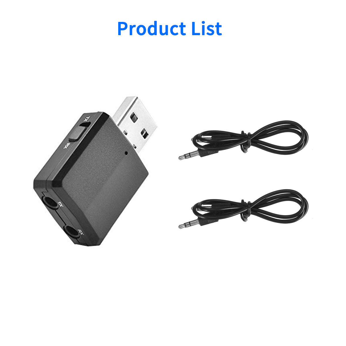 iMars ZF-169 Black bluetooth 5.0 3-In-1 Audio Wireless Receiver Transmitter Stereo AUX RCA USB 3.5mm Jack For TV PC Car Adapter Kit