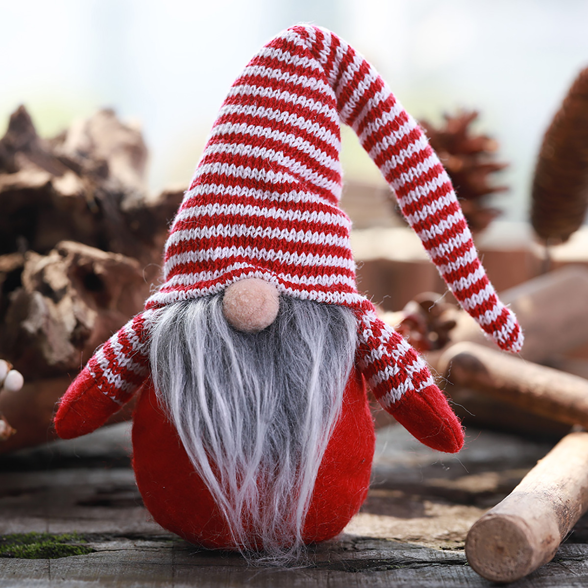 Non-Woven Hat With Long Legs Handmade Gnome Santa Christmas Figurines Ornament Decorations Toys - Photo: 8