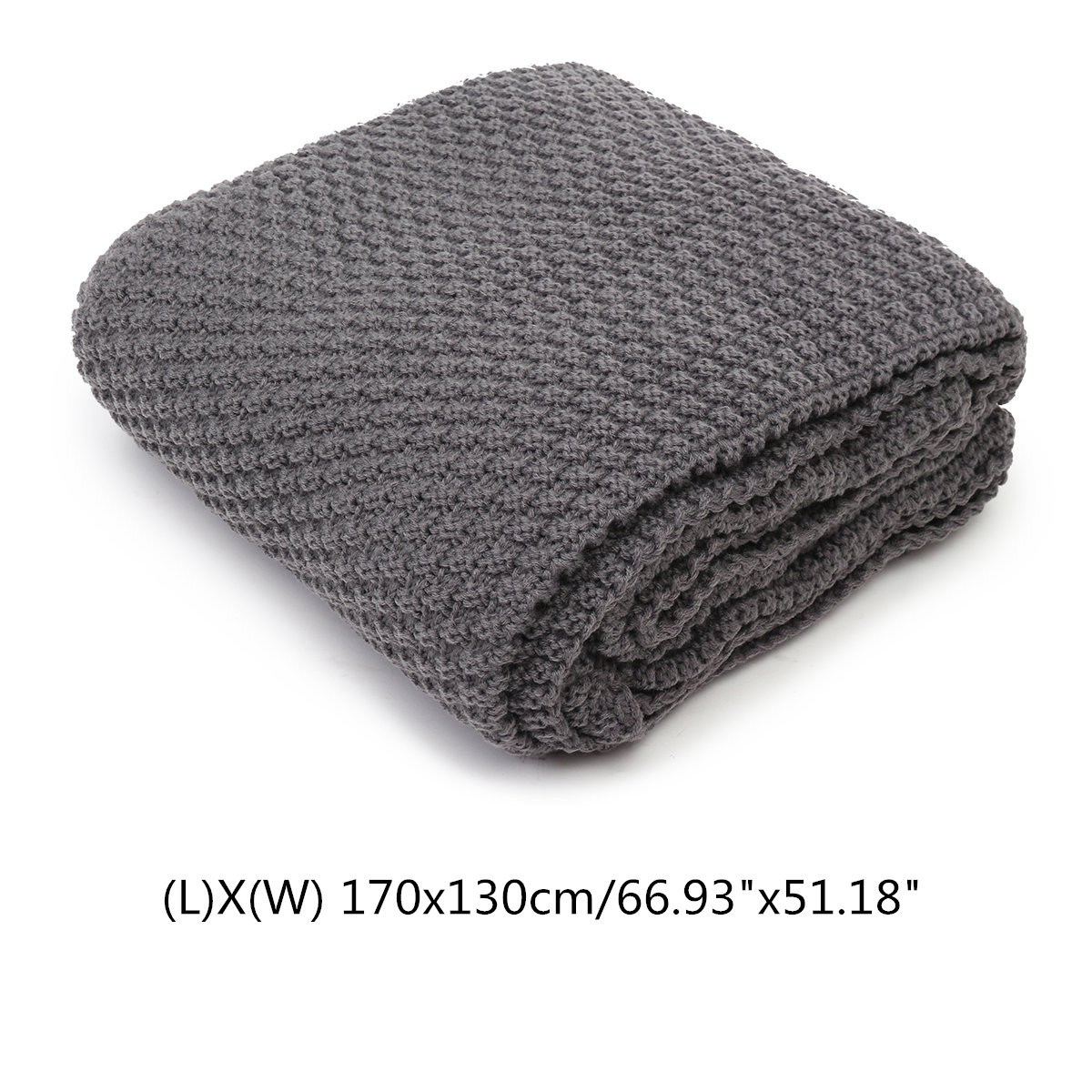 Cotton Knit Throw Blankets Soft Warm Cable Knitted Throw Sofa Bed Home Decor