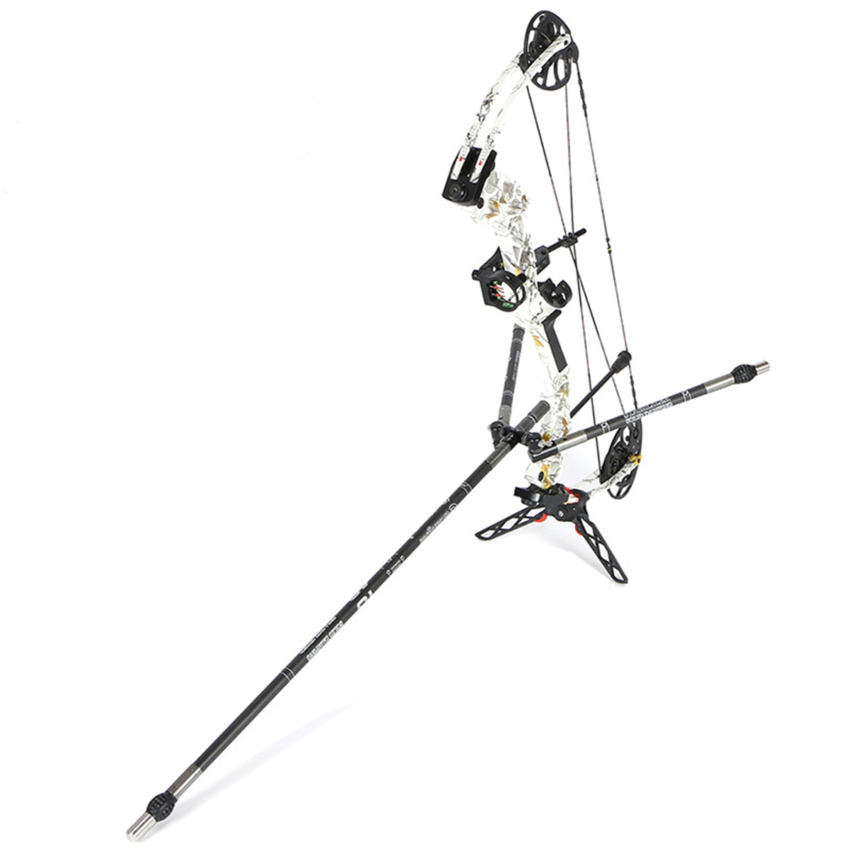MILAEM 3-30 Inch Archery Bow Stabilizer Rod Balance Bar Extension Pole Bow Stabilizer for Recurve Compound Bow