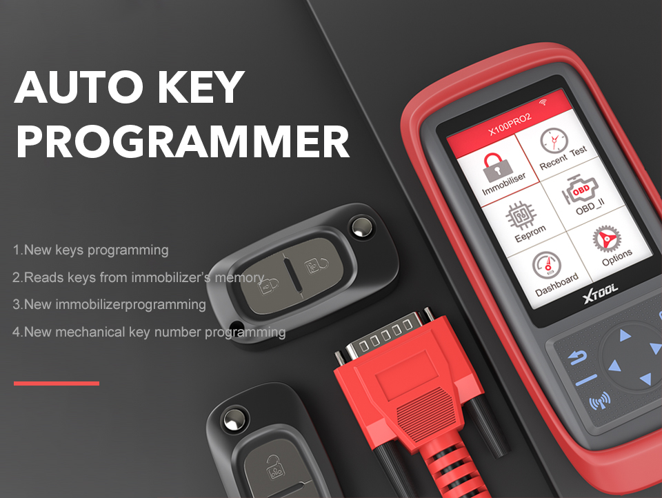 XTOOL X100 Pro2 OBD2 Auto Key Programmer Car Mileage Adjustment Including EEPROM Code Reader With Free Update