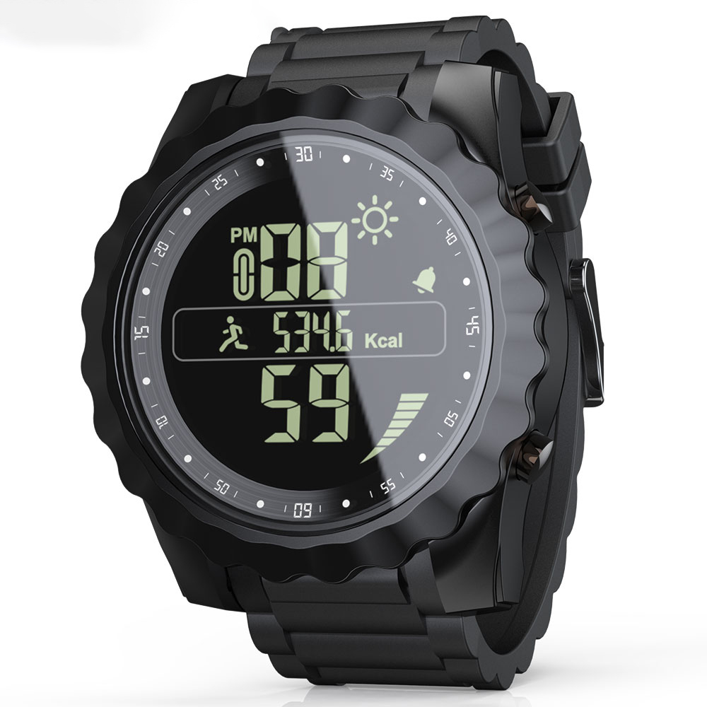 LOKMAT MK08 1.26'' Luminous Display IP67 Waterproof Smart Watch Calender Date Stopwatch Sport Pedometer Fitness Bracelet