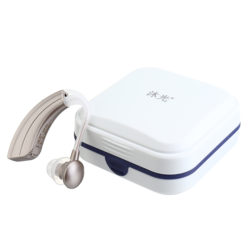 Digital Hearing Aids Amplifiers 600H Personal Sound Amplifier for Seniors Adjustable Behind Ear Sound Hearing Assistant