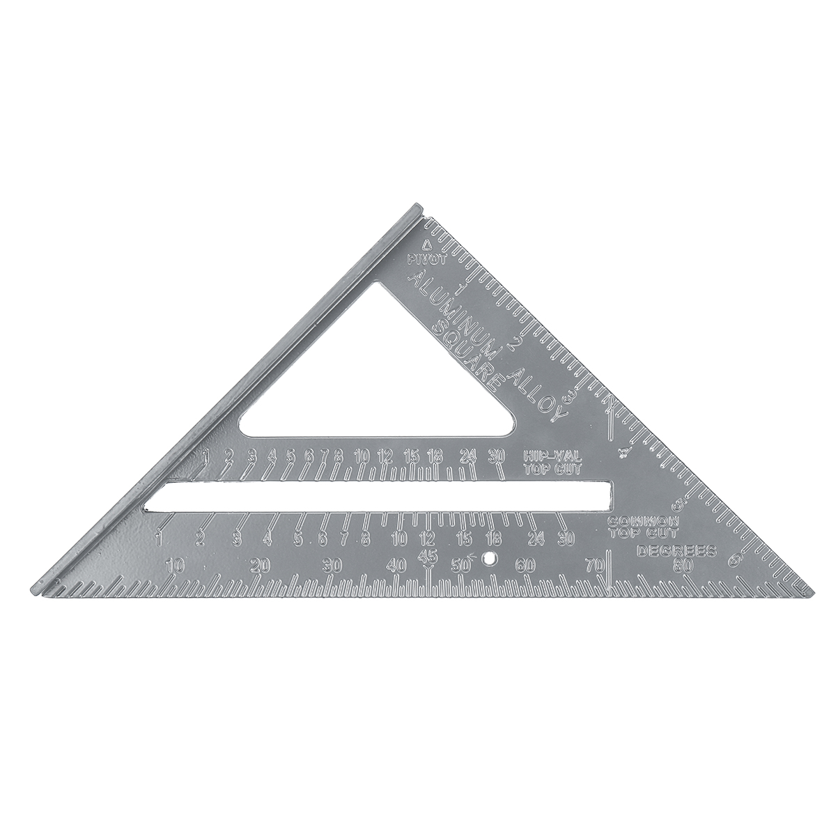 Aluminum Alloy 7 Inch Metric Triangle Angle Ruler Woodworking Square Layout Tool
